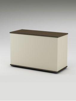 Comptoir caisse simple en bois avec finition personnalisable