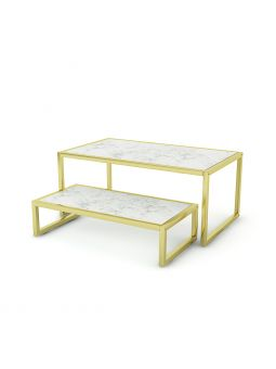 Set de 2 tables display SORENTO Luxe