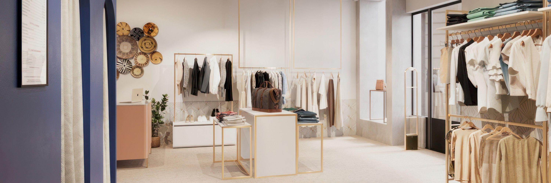 Portant droit | pour magasin | Ceolini.fr
